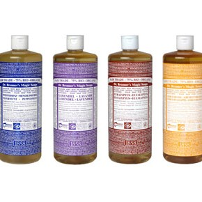 Dr. Bronner Soaps.